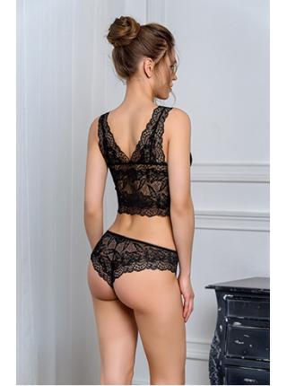 Комплект Dimanche Lingerie Merletto Vista 8070/3070 черный